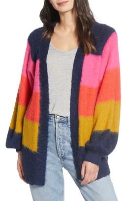 Scotch & Soda Colorblok Stripe Brushed Knit Cardigan