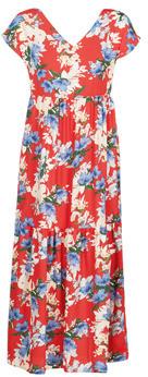 Betty London MALIN women's Long Dress in Red
