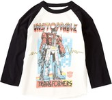 Junk Food Clothing Unstoppable Transformers Raglan Sleeve Tee (Toddler Boys)