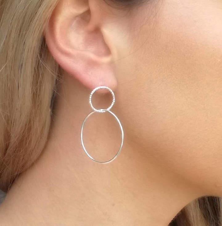 eea909122 Double Stud Chain Earrings - ShopStyle UK