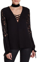Do & Be Do + Be Lace Sleeve Blouse