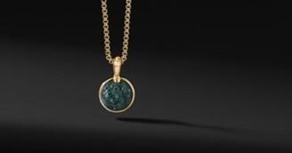 David Yurman Petrvs Lion Amulet In 18K Yellow Gold With Bloodstone