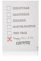 Constance Kay One & Done Holiday Card-WHITE, NO COLOR