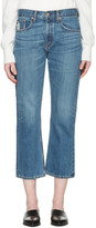 Rag & Bone Blue Marilyn Crop Jeans