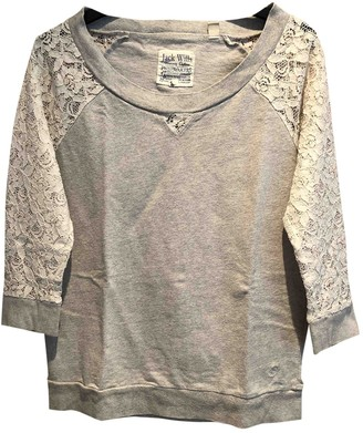Jack Wills Grey Cotton Top for Women