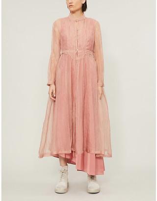 Renli Su Crinkled A-line silk midi dress