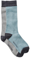 Timberland Solid & Stripe Crew Socks - Pack of 2
