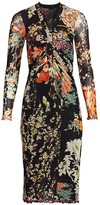 Etro Patchwork Floral Ruched Jersey Midi Dress
