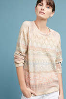 Anthropologie Floral Fair Isle Pullover