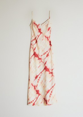 Which We Want Women's Samiyah Slip Dress in Cream Tie Dye, Size Small