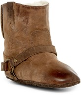 Frye Genuine Shearling Lined Harness Bootie (Baby)