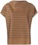 Issey Miyake short sleeve striped print top