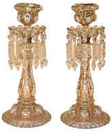 One Kings Lane Vintage Pair of Baccarat Candlesticks