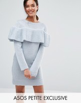 Asos Sweater Dress with Ruffle