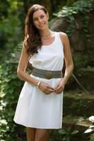 Women's White Sleeveless Cotton Dress from Bali, 'Melati in White'