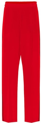 Stella McCartney Cicely silk crepe track pants
