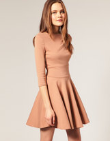 ASOS Ponti Fit and Flare Dress