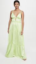 Jonathan Simkhai Jade Sandwashed Charmeuse Dress