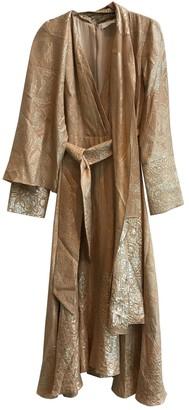 PARTOW Gold Silk Dress for Women