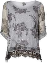 Izabel London **Izabel London Grey Net Top