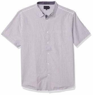 Sean John Men's Short Sleeve Button Up Seersucker Shirt