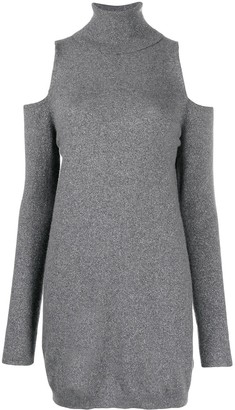 Dondup Cut-Out Roll-Neck Dress