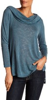 Gibson Exaggerated Cowl Off-the-Shoulder Top