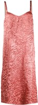 Rochas Creased Effect Slip Dress
