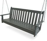 Polywood Vineyard Porch Swing, Gray