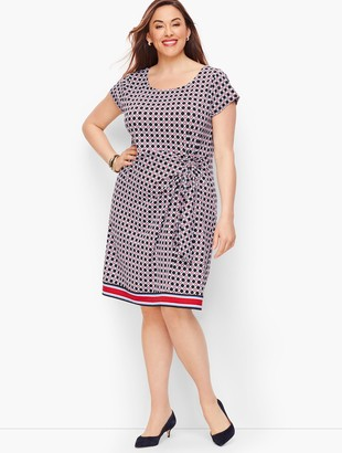 Talbots Ruched Jersey Sheath Dress