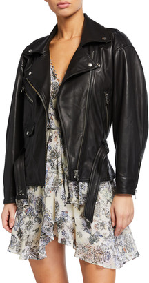IRO Ikem Leather Moto Jacket