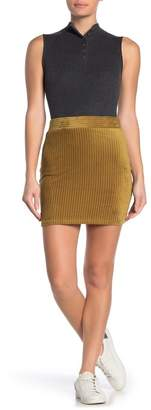 Double Zero Fitted Mini Skirt