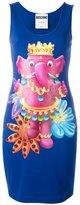 Moschino crowned elephant tank dress