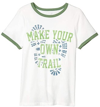 PEEK Anthony Make Your Own Trail Tee (Toddler/Little Kids/Big Kids) (Cream) Boy's T Shirt
