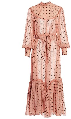Zimmermann Eye Spy Silk Polka Dot Dress
