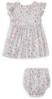 Ralph Lauren Baby Girls Babys Two-Piece Floral-Print Fit-and-Flare Dress and Bloomers Set