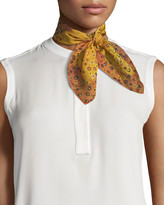 Mila Louise & Such Playful Square Silk Scarf, 50cm