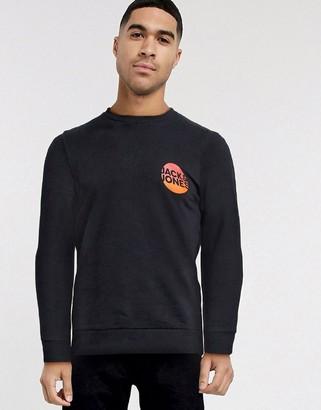 Jack and Jones gradient print logo sweatshirt