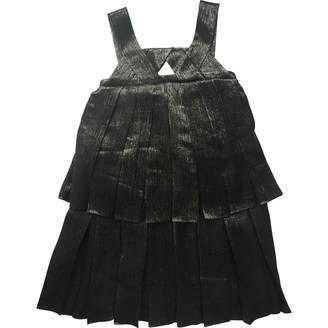 John Galliano Silver Silk Dress for Women