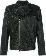 John Varvatos off-centre zipped jacket
