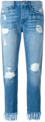 3x1 WM3 Crop Fringe jeans