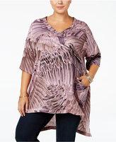 Melissa McCarthy Trendy Plus Size Bird-Print Top
