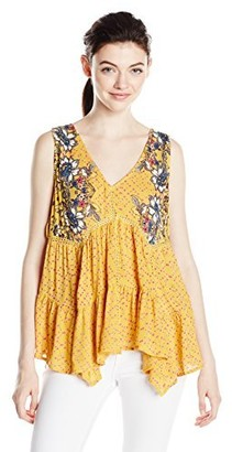 Angie Women's Tank with Tassel Tie Sides