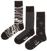 Happy Socks Monochrome Intarsia Socks (3 PK)
