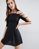 Love Cage Sleeve Dress