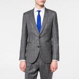 Paul Smith Men's Slim-Fit Grey Subtle-Check Wool Blazer