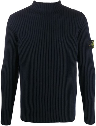 Stone Island Ribbed Roll-Neck Jumper