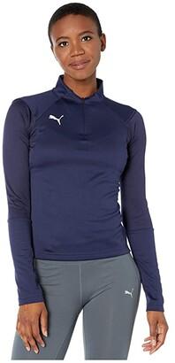 Puma Liga Training 1/4 Zip Top (Peacoat White) Women's Coat