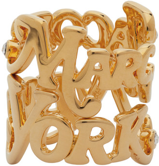 Marc Jacobs Gold New York Magazine Edition Logo Stack Rings
