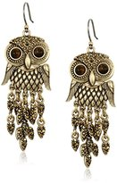 Lucky Brand Owl Gold Earrings